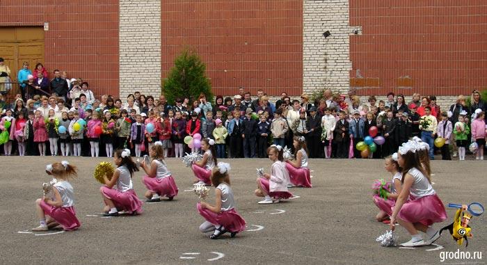 Выступление танцевальной группы. Гимназия №3 г.Гродно.