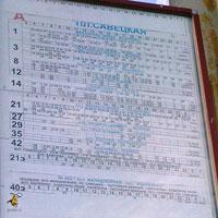 Расписание движения транспорта через пл. Советская в сторону моста
