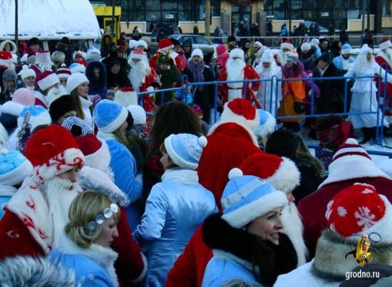 Парад Дедов Морозов 2013 в Гродно
