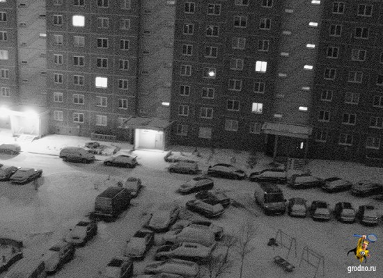 Последний снег в Гродно. Зима 2012-2013 года.