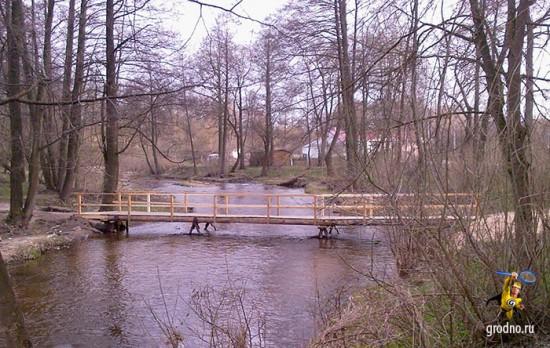 Мост через Лососянку восстановлен 26 апреля 2013 года