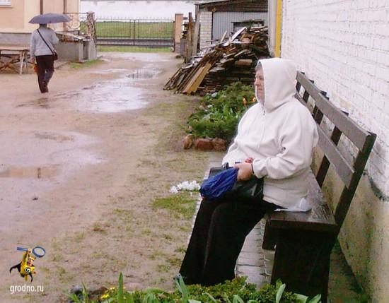 Вербное воскресенье в Гродно. 2013. Дождь.