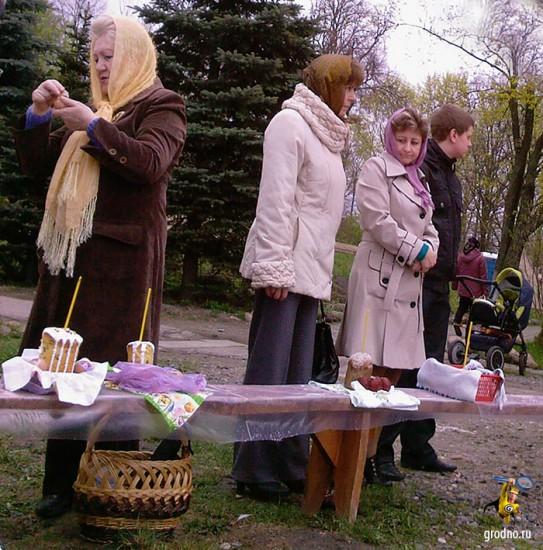 Пасха в Каложской (Борисоглебской) церкви Гродно. 2013 год.
