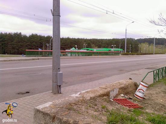 Мост возле Торгового колледжа Гродно.