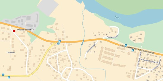 Остановка Головичи на карте