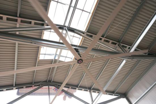 Светоаэрационный конёк и потолочный вентилятор «Биг Эир»